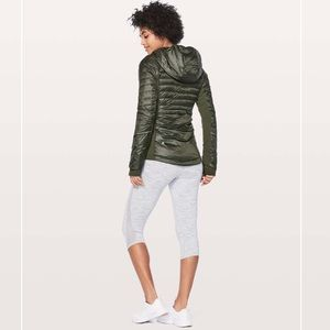Lululemon Down For Run Jacket Gator Green size 2